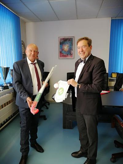 Ректорът на НСА се срещна с президента на БФХТ